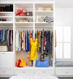 open closet with window.
