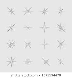 Stars and sparks. Magic star and sparks icon set Vector illustration North Star Tattoos, Star Tattoos For Men, Small Star Tattoos, Little Tattoos, Tattoos For Women Small, Tattoos For Guys, Best Star Tattoos, Tattoo Small, Tattoos Infinity
