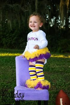 Minnesota Vikings Inspired Tutu Onesie - We can also create a custom outfit for the team of your choice. $40.00, via Etsy.