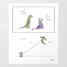 Kite  Art Print by Liz Climo - $16.00
