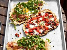 Make rustic pizzas on the grill with Anne's Grilled Pizzettas, with toppings ranging from the meaty and earthy proscuitto-arugula to flavorful puttanesca.