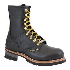 Men's AdTec 1428 Logger Boots 9in Steel Toe