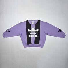 9cc2afc9a Rare Vintage 80s 90s ADIDAS Pullover   Trefoil ADIDAS Big Logo   Retro  Adidas Sweater   ADIDAS Jumper Crewneck Sweatshirt   Size Medium