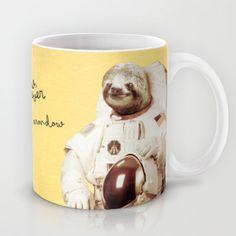 Sloth Astronaut Mug by Bakus - $15.00