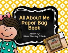 A paper bag book all about your students is a great way to share and get the school year started off right!  Kid LOVE finding new things out about their classmates and it helps to put fears at rest.  Kids can then read their books to the class or you can put them in your classroom library for the kids to check out.  Pages include: *Materials Needed *Cover Page *My Favorites and More Favorites *Words That Describe Me *Birthday *My Family *Self Portrait *Goals for the School Year