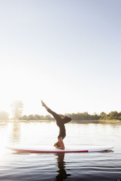 Yoga on a paddle board @Hugh Pyle Pyle Whitaker - look whats on Pinterest! hahahaha  it's meeeeee