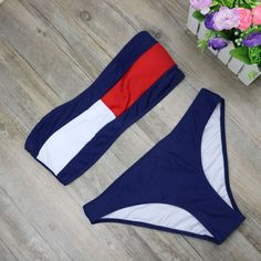 Bikini Swimwear Swimsuit Bikini Set Push Up Beachwear Low Waist Bathing Suit from DEAL REAL.