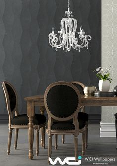 Leading wallpaper supplier & installer in Southern Africa, offering expert advice for small to large scale wall coverings commercial & residential projects. Wallpaper Suppliers, Dining Room Wallpaper, Bespoke Design, Wallpaper Ideas, Dining Chairs, Africa, Furniture, Home Decor, Custom Design