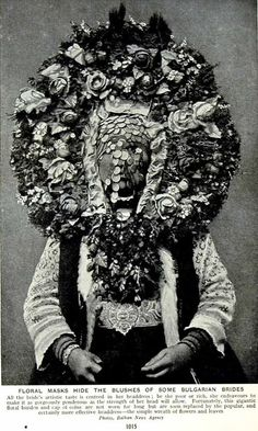 Floral Masks Hide The Blushes Of Some Bulgarian Brides