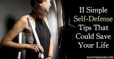 Here are 11 simple self-defense tips that could save your life. You just never know when these might come in handy and hopefully you will never need… Self Defense Tips, Self Defense Weapons, Survival Prepping, Survival Skills, Survival Hacks, Disaster Preparedness, Wild Book, Street Fights, Survival Quotes