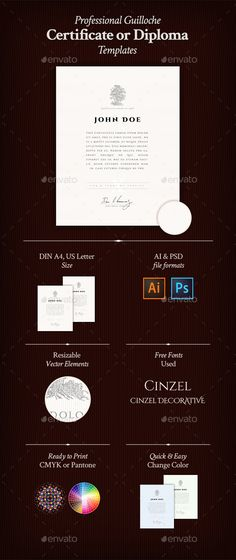 Modern certificate modern templates and psd templates yadclub Images