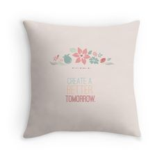 create a better tomorrow pink peach nursery boy girl flowers inspirational typography