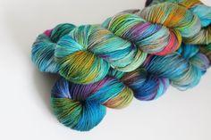 Ocean Rainbow - Oasis Fingering - Merino Nylon by StrandedDyeworks on Etsy https://www.etsy.com/listing/261159904/ocean-rainbow-oasis-fingering-merino