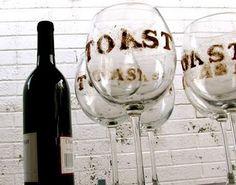 Roast (marshmallows) & Toast (red wine) Party