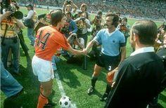 Juan Masnik y Johan Cruiff Alemania 1974
