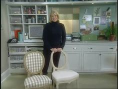 How to Recover a Chair Seat and Back Videos | Home & Garden How to's and ideas | Martha Stewart