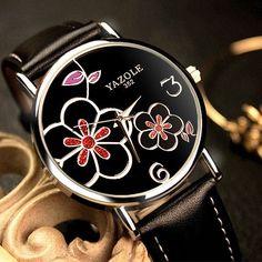 38mm - Ladies YAZOLE Wrist Watches Fashion Rose Gold  Just $35.70   #Bigfancywatch #iwantone https://bigfancywatch.com