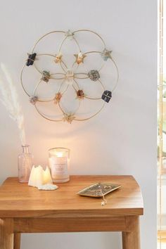 Image of Ariana Ost Large Flower Crystal Grid Wall Hanging meditation Crystal Wall, Wall Hanging, Decor, Bohemian Style Decor, Diy Decor, Crystal Crafts, Bohemian Home, Home Decor, Crystal Room