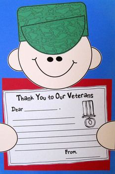 veterans day thank you note individual