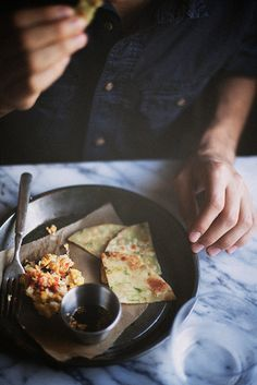 scallion pancakes by TheSophisticatedGourmet, via Flickr