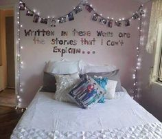 i like the photo idea above the bed with a quote but not with one direction I would use family and friends