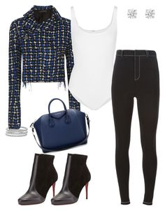 """Blue Hues"" by syledbyallief on Polyvore featuring Christian Louboutin, Blue Nile, Haider Ackermann, Wolford and Givenchy"