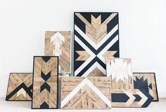 Reclaimed wood wall art - Bri Land