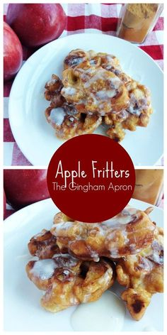 Apple Fritters- A delicious fall treat! Tastes like apple pie and funnel cakes.
