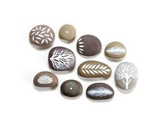stones paint nature motifs tinkering with stones
