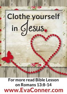 Clothe yourself in Jesus