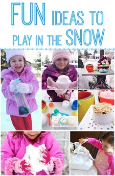 Ideas for Playing in the Snow - http://innerchildfun.com/2014/02/ideas-playing-snow.html #kids