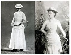 Credit: PA Maud Watson (left) defeated her sister Lilian (right) in the inaugural ladies championship final in 1884. White clothing was worn...