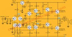power voltage for this circuit Hifi Amplifier, Electronic Schematics, Hobby Electronics, Circuit Diagram, Electrical Engineering, Emergency Preparedness, Arduino, Canal 1, Projects