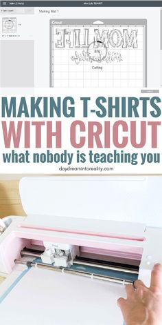 Today you will learn, from start to finish, how to make custom T-shirts with your Cricut Maker or Explore. One of the biggest reasons people, including myself, buy a Cricut is because you can make beautiful T-shirts. If you have Cricut and haven't explore Cricut Air 2, Cricut Help, Cricut Vinyl, Cricut Explore Projects, Cricut Explore Air, Circuit Projects, Vinyl Projects, Sewing Projects, Proyectos Cricut Explore