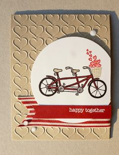Hi there stampers! For today's card I am sharing the card I made for my husband for our upcoming first year anniversary. I always find ma...