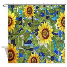 Sunflower Shower Curtain on CafePress.com
