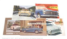 """Lot 2009  Austin - a group of 1950s leaflets and brochures. Consisting of Styled For Today's Motorist - Big Austin A40, Austin A50 Cambridge, The Austin A60 Countryman, Austin A90 """"Six"""" Westminster and The Austin A95 and 105 Saloons - conditions are generally Fair to Excellent. (5)  Estimate: £40 - £50"""