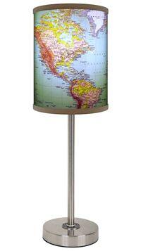 1970's World Map Lamp