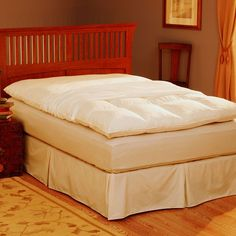 Pacific Coast Feather Cal. King Featherbed Protector - 76'' x 88'', White