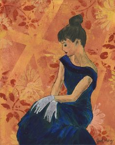 Audrey - Just Mary Designs Original Art, My Arts, Mary, Canvas, Painting, Beauty, Design, Style, Tela