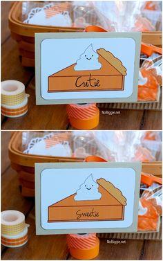 #pumpkinPie (free) printable via NoBiggie.net...LOVE THESE!!!