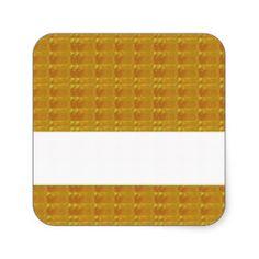 Decorative FUN ART all occasions TEMPLATE DIY Square Sticker