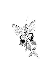Mandala Tattoo, Body Art Tattoos, Tattos, Tattoos For Women, Costa, Tattoo Designs, Sketches, Butterfly, Drawings