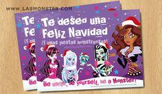 Postal de Navidad Monster High