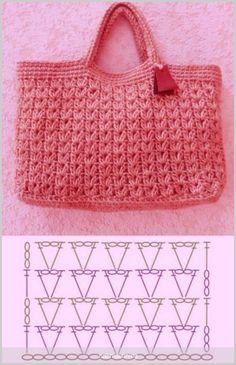 Crochet Handbags, Crochet Purses, Crochet Bags, Crochet Cord, Diy Crochet, Crochet Square Patterns, Crochet Motif, Crochet Stitches For Beginners, Crochet Market Bag