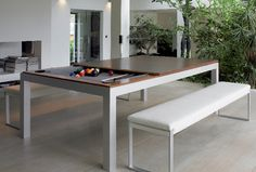 YES Convertible Pool Table For Outdoor Use TECK Toulet - Fusion pool table price