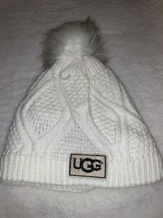 968e4f7889228 UGG Knit Beanie White  fashion  clothing  shoes  accessories   unisexclothingshoesaccs  unisexaccessories (ebay link)