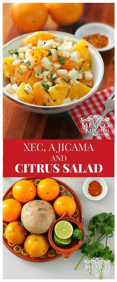 How to make Xec a Jicama and Citrus Salad │citrus salad is also sold by street vendors and in local markets, when the fruit is in season. Authentic Mexican Recipes, Mexican Food Recipes, Jicama Recipe, Recetas Salvadorenas, Mexican Salads, Mexican Potluck, Salad Recipes, Healthy Recipes, Vegetarian Recipes