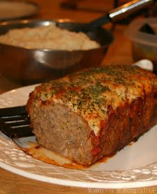Parmesan Meatloaf -Gluten Free: Makes this lighter and gluten-free meatloaf for your next dinner. Gluten Free Meatloaf, Meatloaf Recipes, Beef Recipes, Cooking Recipes, Recipies, Beef Meals, Amish Recipes, Chicken Meals, Yummy Recipes