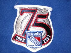 2000-01 75th Patch- worn on all jerseys that season.